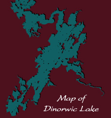 Map of Dinorwic Lake
